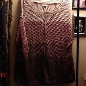 Ombre open knit sweater